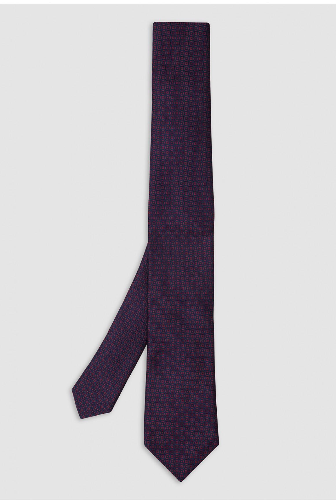 Cravate Navy Micromotif Soie