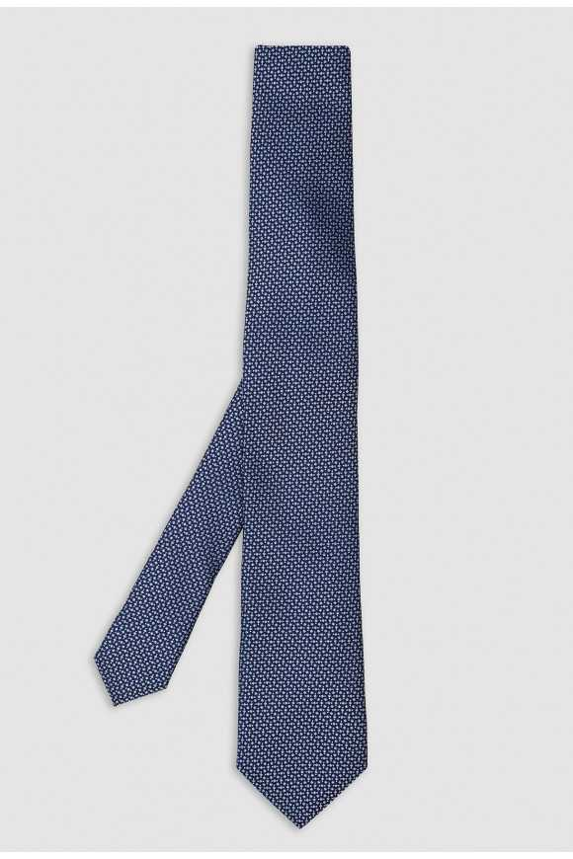 Cravate Bleu Micromotif Soie
