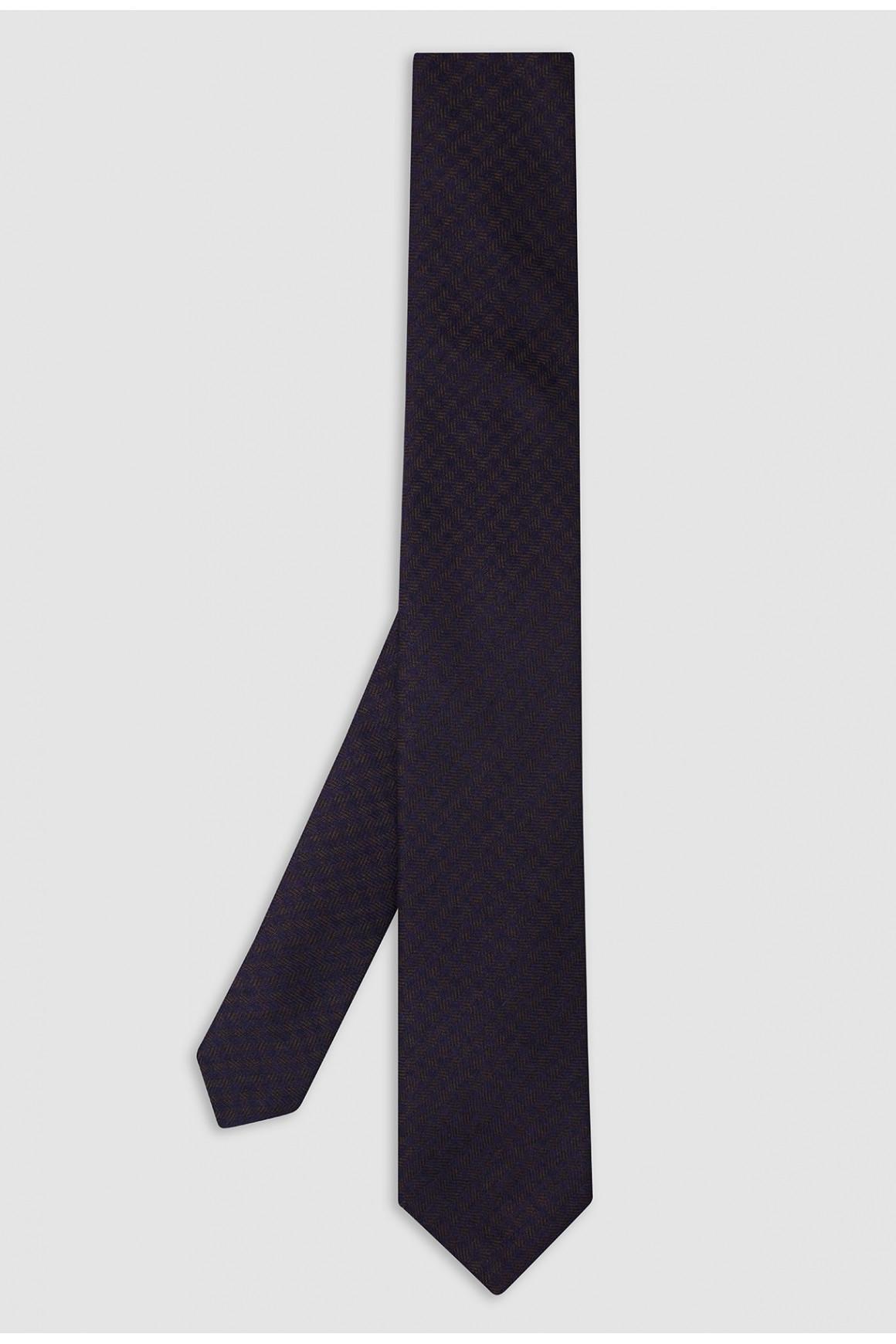 Cravate Marron Soie Et...