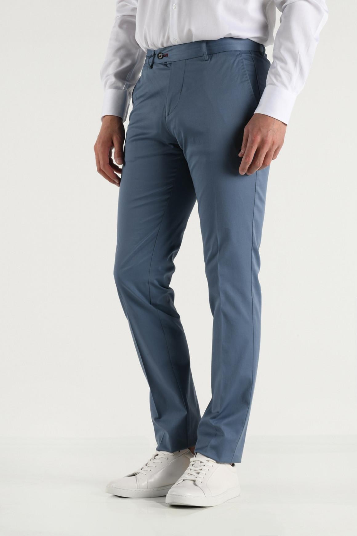Pantalon VILLE bleu gris