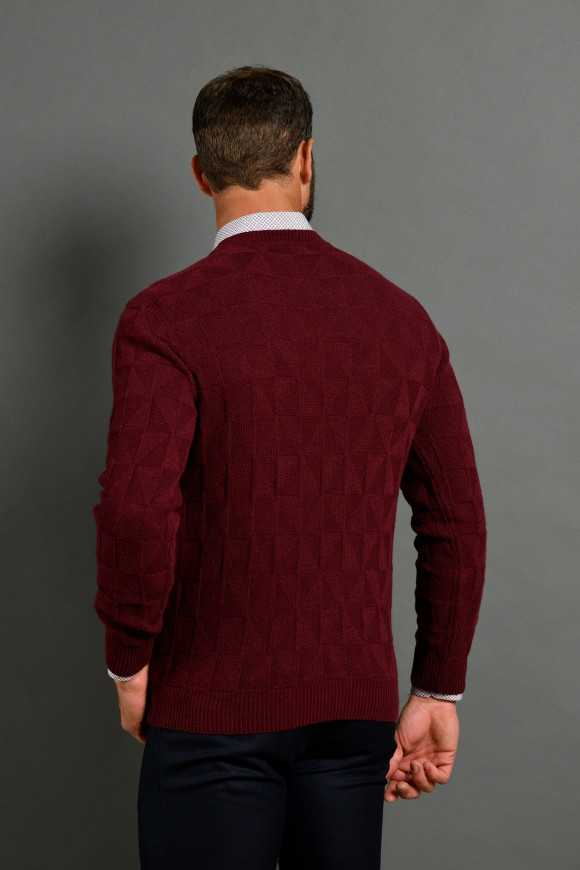 PULL 'GSTAAD' BORDEAUX