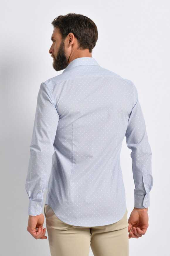 Chemise à pois all-over