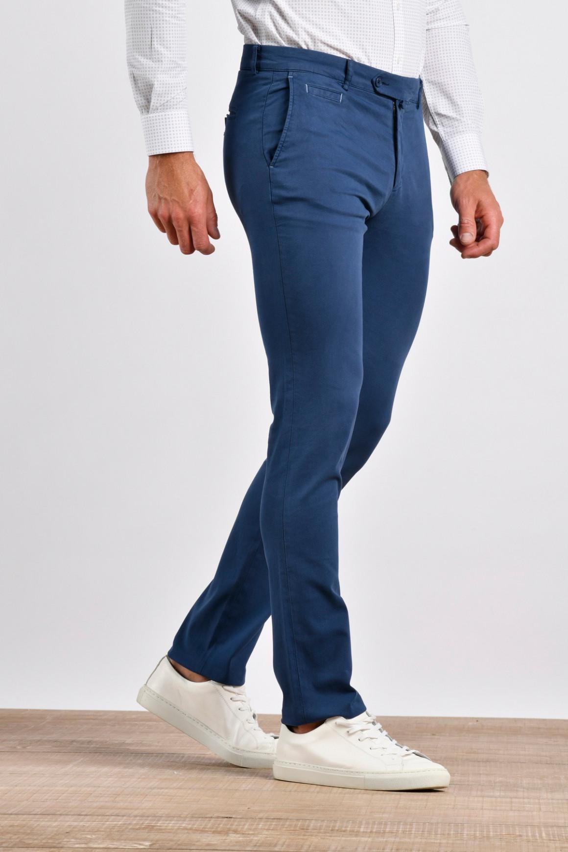 Pantalon Hugo Navy coton