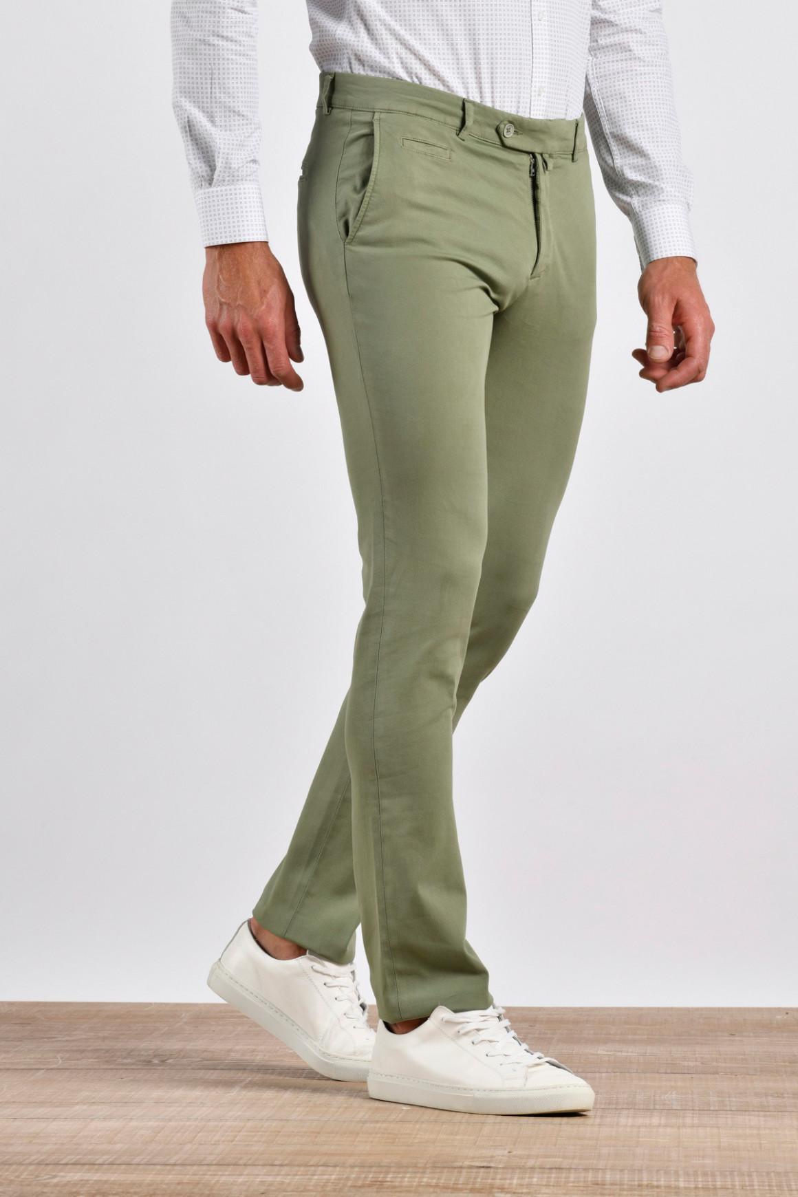 Pantalon Hugo Kaki coton