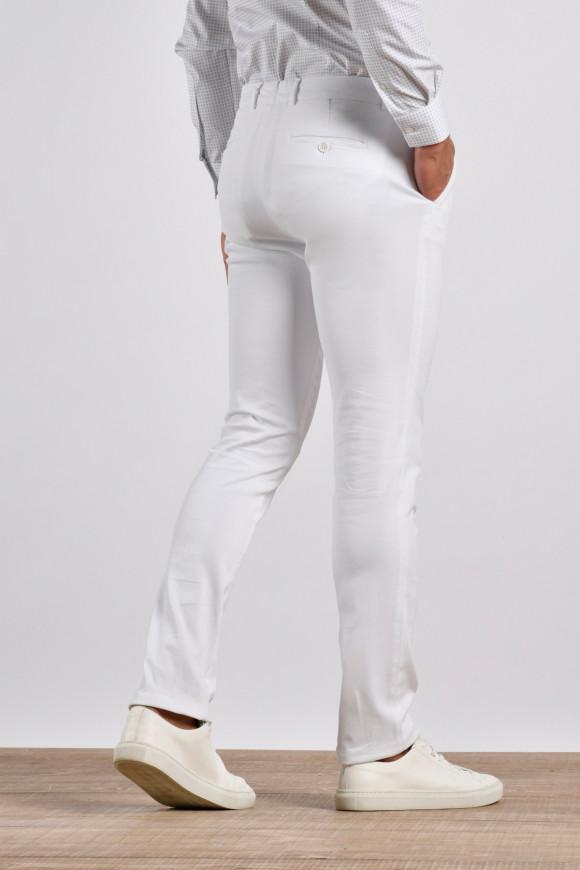 Pantalon Hugo Blanc coton