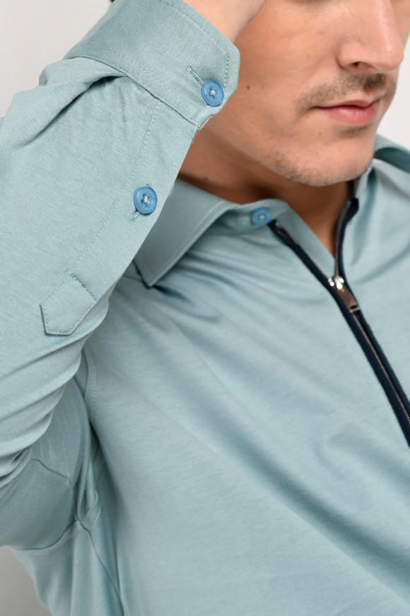 Polo Olympico Bleu-Gris