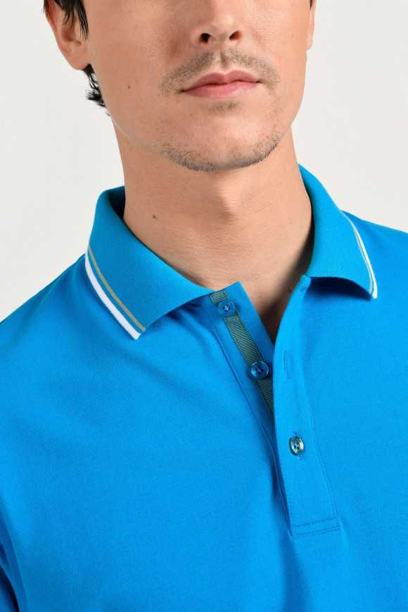 Polo Fluo Turquoise