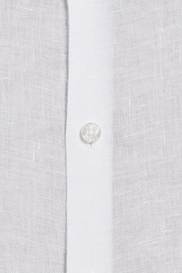 Chemise en lin uni blanc