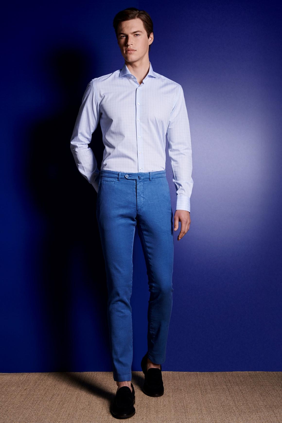 Pantalon Lino Bleu