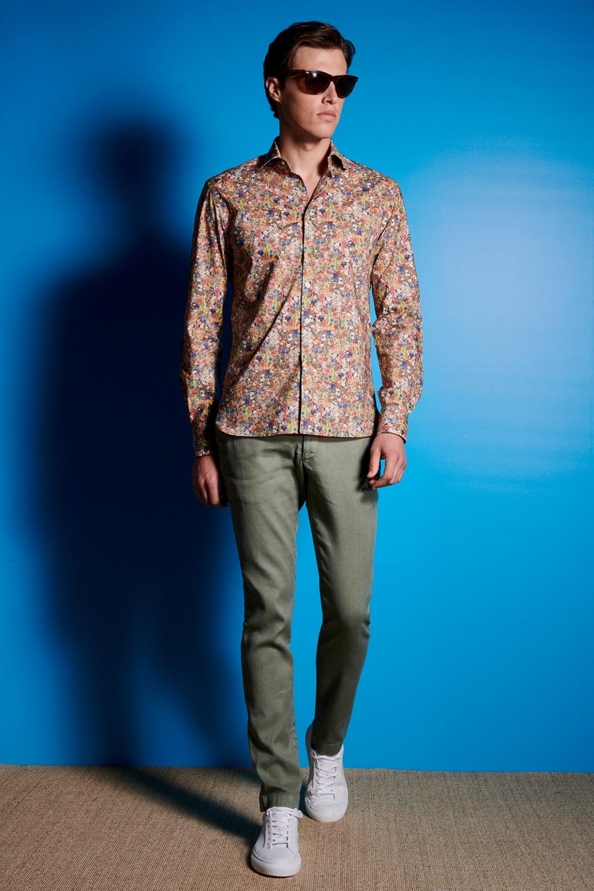 Pantalon Lino Kaki