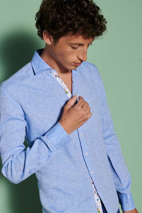 Chemise Riviera Bleue