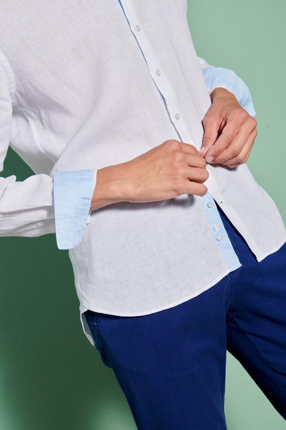 Chemise Mao lin Blanc