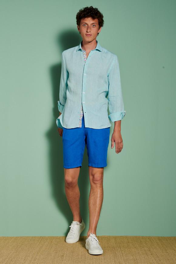 Bermuda 'Marcel' Stretch Bleu