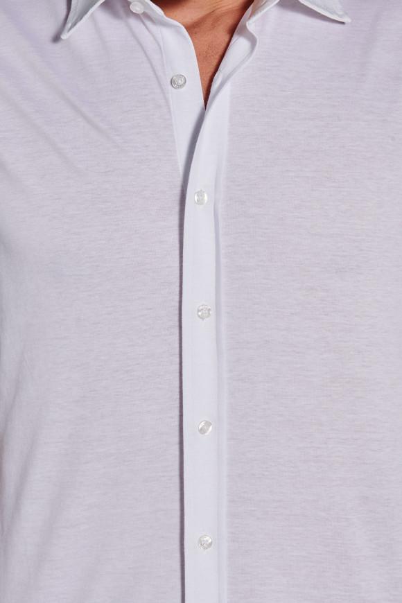Chemisette Casual Coton Blanc
