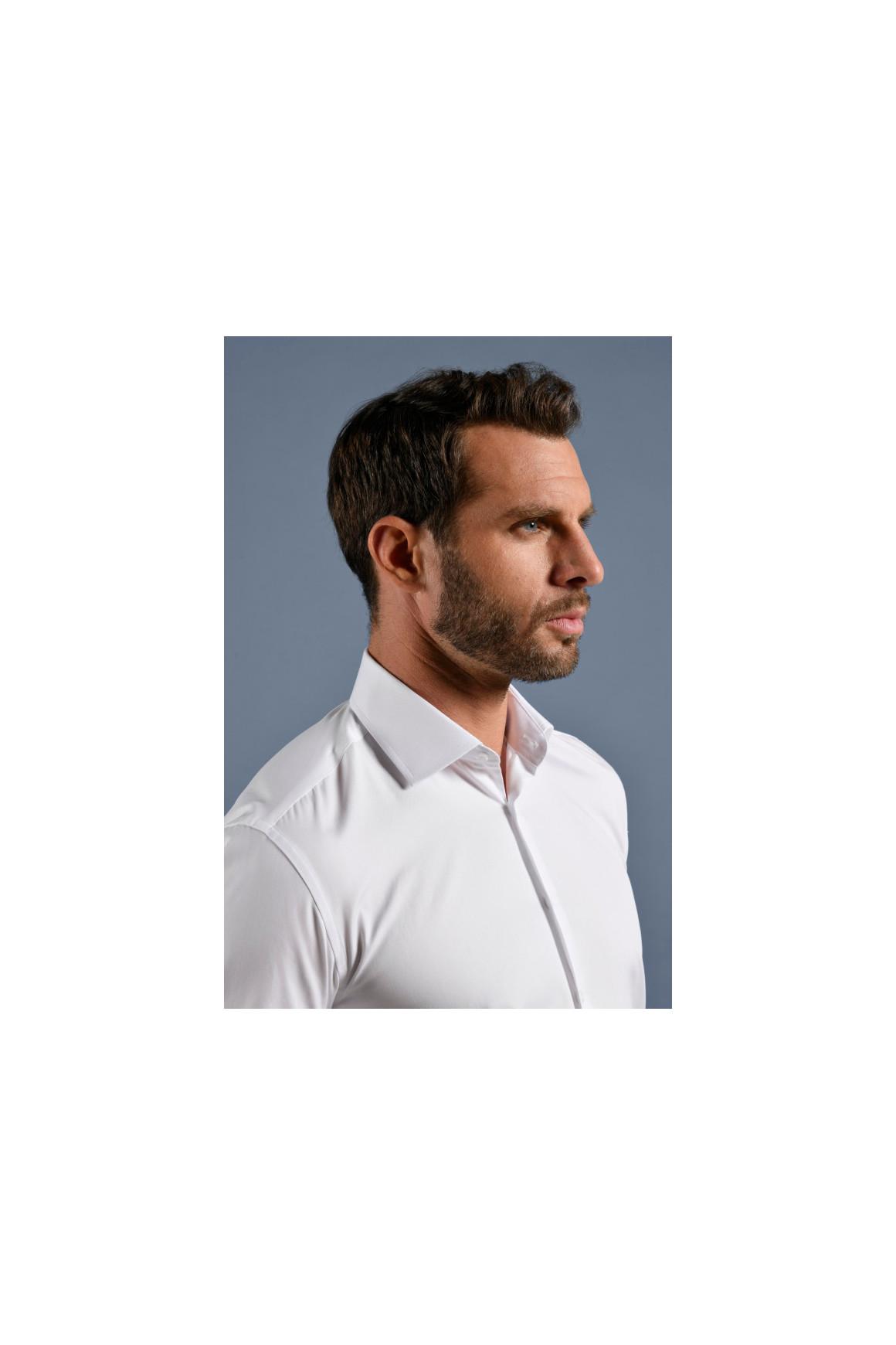 Chemise piqué coton blanc