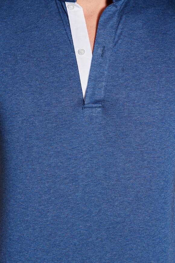Polo officier Bleu