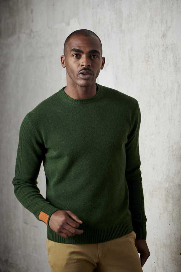 Pull Andrea Vert bouteille